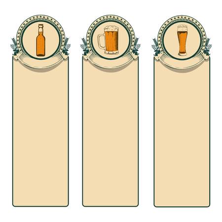 ale: Vintage beer frame Illustration