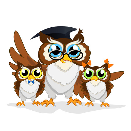 Cheerful school owl