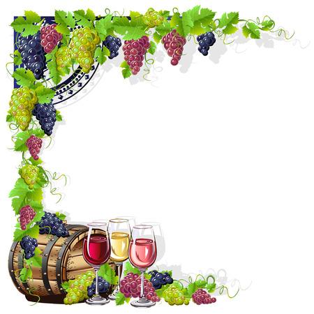 cornice di vino Vettoriali