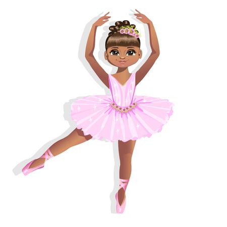 Sweet little ballerina in a shiny dress Illustration