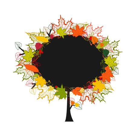 autumn tree with colorful leaves Ilustração