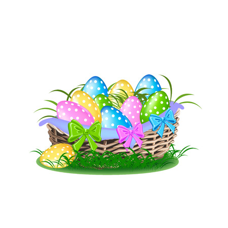 Happy easter colorful illustration Stockfoto - 112820909
