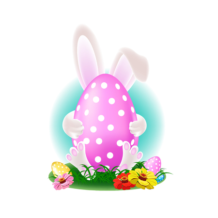 Happy easter colorful illustration Stockfoto - 112820914