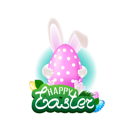 Happy easter colorful illustration Stockfoto - 112820918