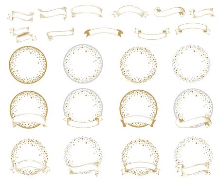 Vector set of empty frames from stars