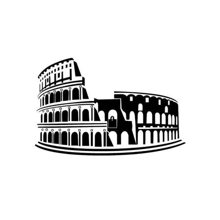 Landmark of Italy Coliseum on a white 일러스트