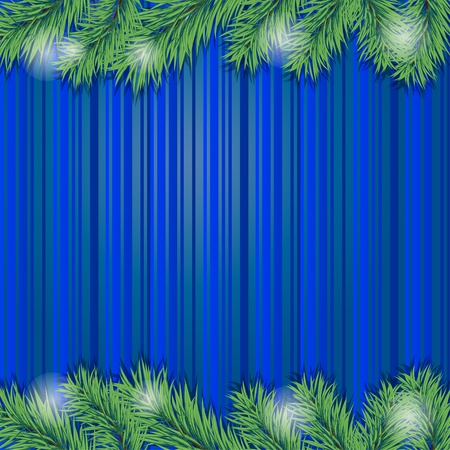 Background with Christmas tree branch. Vector illustration. eps10 Illustration