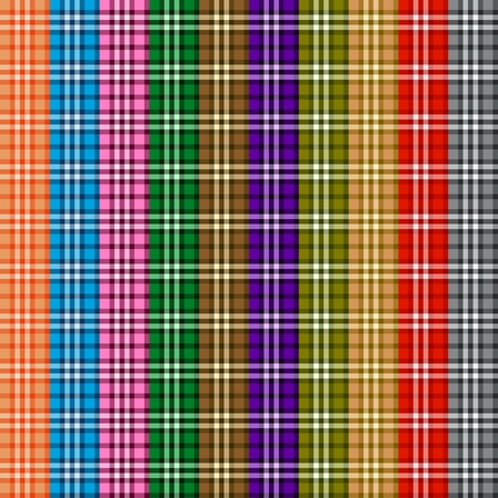Bright colored scottish seamless pattern. Vector illustration. eps10 Vector
