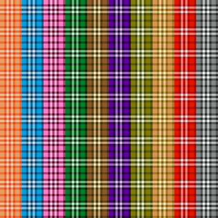 Bright colored scottish seamless pattern. Vector illustration. eps10 Illustration