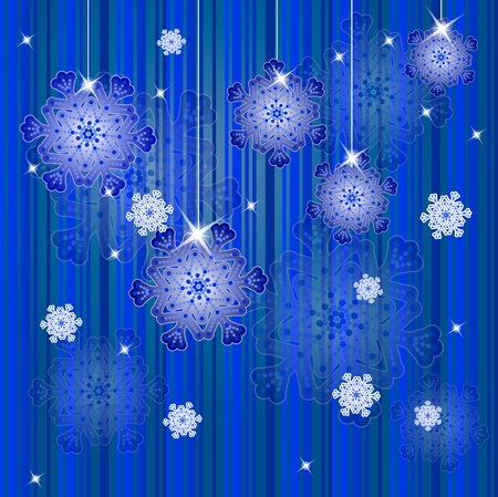 Winter christmas background with snowflakes. Vector illustration. eps10