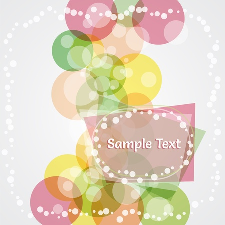 Abstract colorful background with place for text.  Illustration