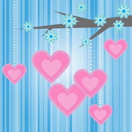 Love heart romantic tree background.