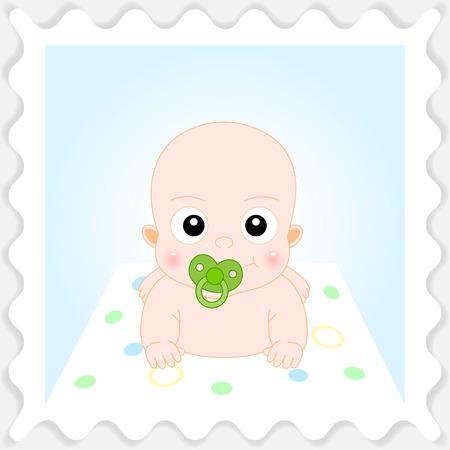 귀여운 만화 아기의 그림