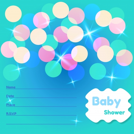 Baby Shower or Invitation Card Template Vector