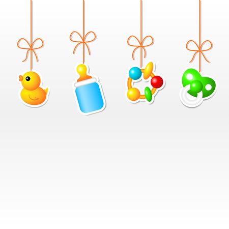 pacifier: Fondo con colgar cosas del bebé