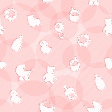 Süße Seamless Pattern mit Baby-Artikel