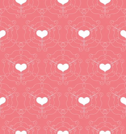 Pattern with Openwork Hearts, Seamless Vector Background. For Fashion Textile, Cloth, Backgrounds