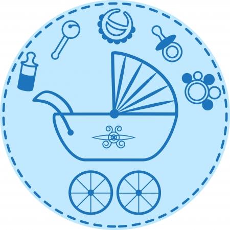 Cochecito de niño y bebé colección cosas