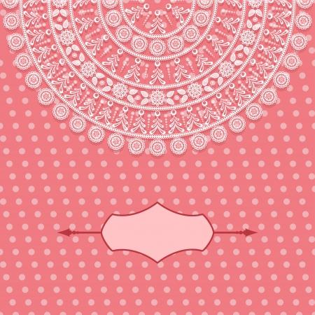 Vintage card design for greeting card, invitation, menu. EPS8 Illustration