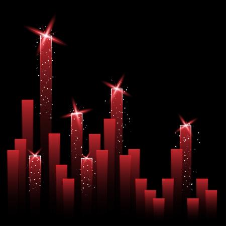 달성: 빛나는 별 벡터 차트