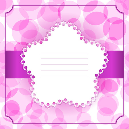 Greeting or Invitation Card. Template for Invitation, Greeting or Scrapbook Illustration