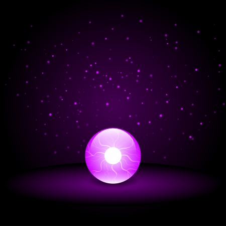 Crystal Ball on Dark Background Stock Vector - 22260101
