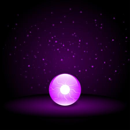 diviner: Crystal Ball on Dark Background Illustration