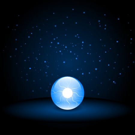 Crystal Ball on Dark Background Stock Vector - 22260102