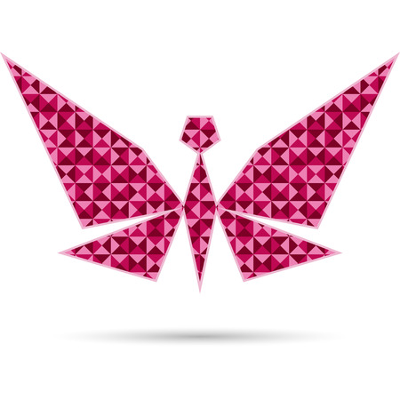 Abstract butterfly isolated on white background. Polygonal design Vector