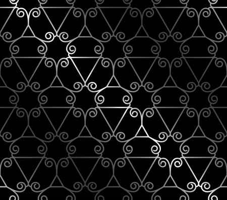 Forged seamless background with abstract ornament