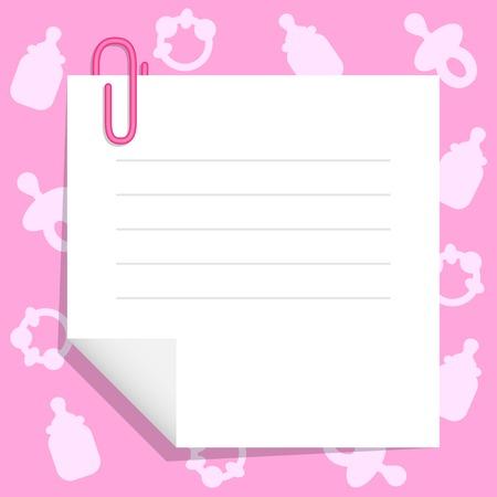 赤ちゃんの商品で背景に紙のシート  イラスト・ベクター素材
