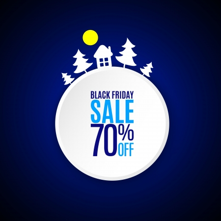 Black friday applique banner on dark background Vector
