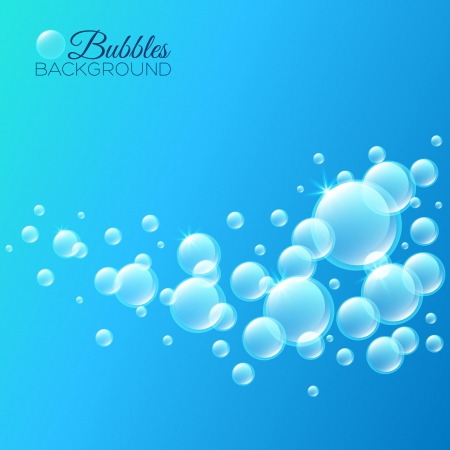 Background with bubbles under water. For your design Vector