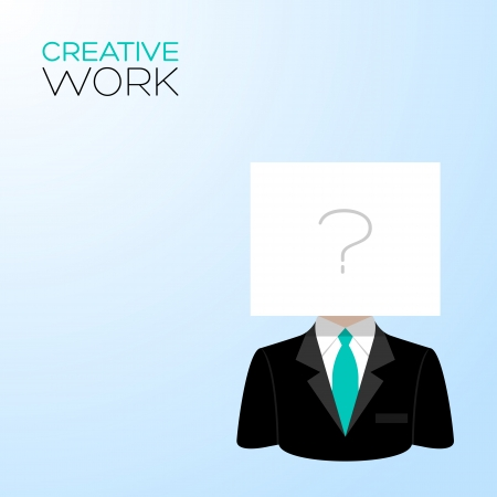 Man with a white sheet on the head Vector