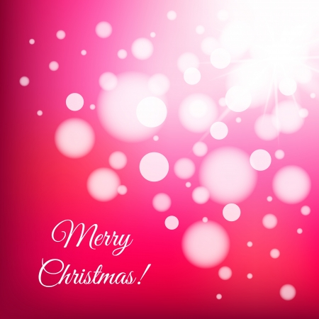 Christmas light vector background for greeting or invitation