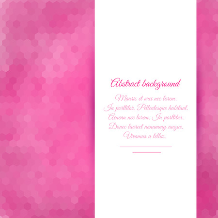 Abstract pink background of hexagons for your design Illustration