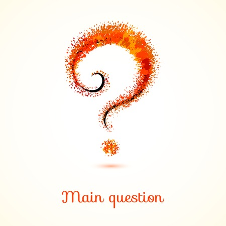 Background with abstract question mark. Vector design Vector