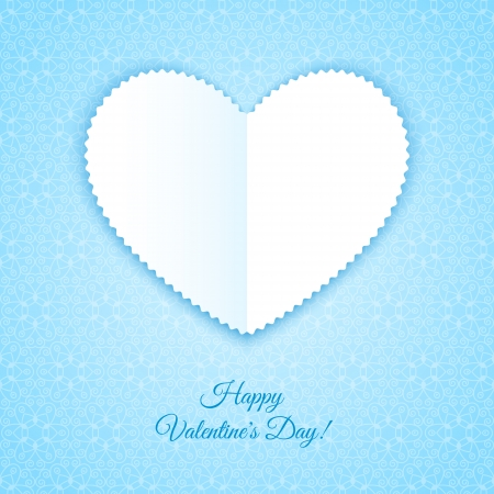 Happy Valentines Day Card on ornate background Illustration