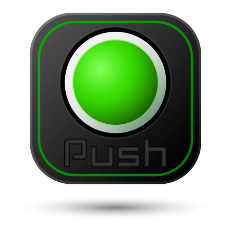push button: Push button isolated on white. Vector design