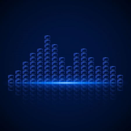 Glass Equalizer on dark background. Vector illustration Stock Vector - 24895866