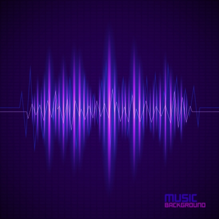 Music background with equalizer. Vector illustration Vector