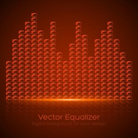 Glass Equalizer on dark background  Vector illustration Stock Vector - 25094686