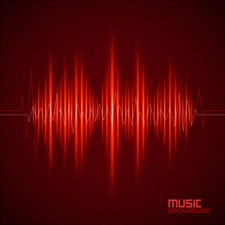 vibrations: Music background with equalizer. Vector illustration Illustration