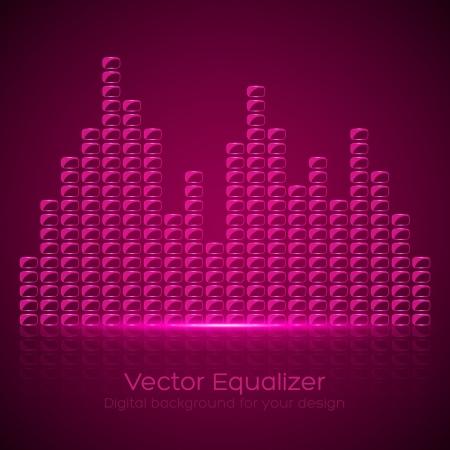 Glass Equalizer on dark background. Vector illustration Stock Vector - 25094744