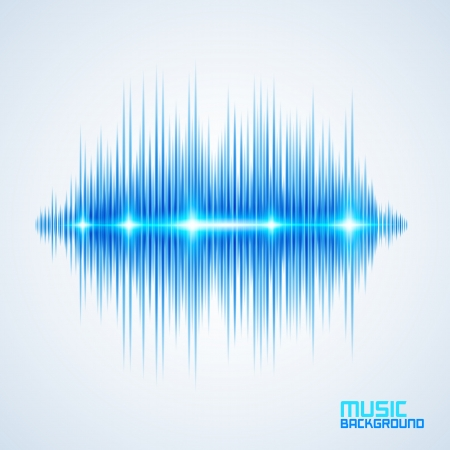 Modern glowing equalizer. Background for music themes Stock Vector - 25094746