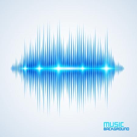 Moderne leuchtende Equalizer. Hintergrund für Musik-Themen