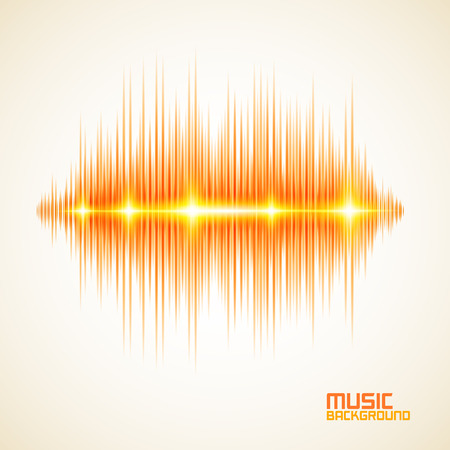 Modern glowing equalizer. Background for music themes Stock Vector - 25094748