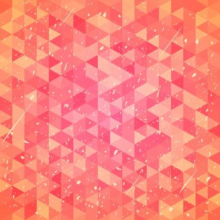 threadbare: Astratto logoro con triangoli.