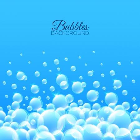 jabon liquido: Pop-up burbujas. Beautiful vector de fondo