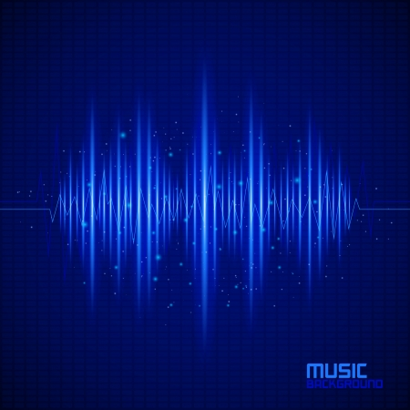 Music background with equalizer. Vector illustration Stock Vector - 25398534